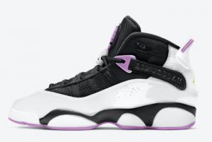 2021 Jordan 6 Rings GS Electric Green Light Purple 323419-150 Sneakers For Sale