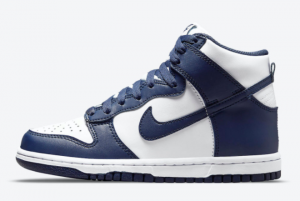 2021 Latest Release Nike Dunk High GS Navy White DB2179-104
