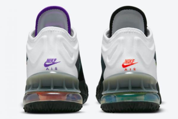 2021 New Nike LeBron 18 Low Greedy Men's Shoe CV7564-100-3