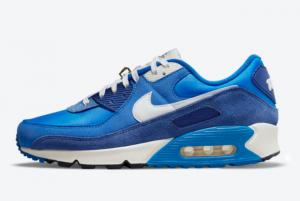 2021 New Release Nike Air Max 90 Signal Blue DB0636-400