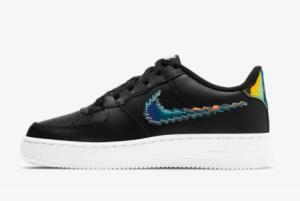 2021 Nike Air Force 1 LV8 Black/Multi Color CW1577-002 Lifestyle Shoes