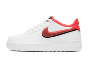 2021 Nike Air Force 1 LV8 White/Black-Bright Crimson CW1574-101 On Sale