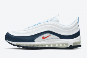 2021 Nike Air Max 97 White/Navy-Red DM2824-100 For Sale Online