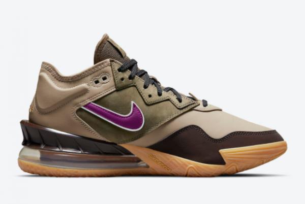 2021 Nike LeBron 18 Low Viotech CW5635-200 Sneakers On Sale-1
