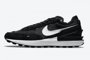 2021 Nike Waffle One Black White Shoes for Men DC2533-001