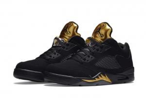 Air Jordan 5 Low Black/Metallic Gold Basketball Sneakers For Sale