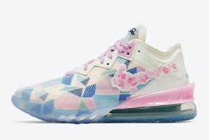 atoms x Nike LeBron 18 Low Sakura CV7564-101 For Sale Online