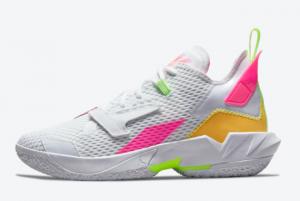 Brand New Jordan Why Not Zer0.4 White/Pink-Volt-Orange CQ4230-102