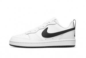 Brand New Nike Court Borough Low 2 White Black BQ5448-104