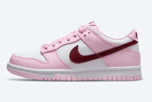 Brand New Nike Dunk Low GS Valentine's Day White Pink Red CW1590-601
