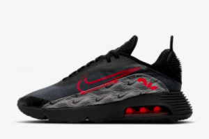 Cheap Nike Air Max 2090 Topography Black White-University Red DH3983-001