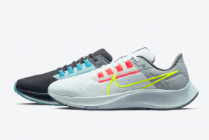 Cheap Nike Air Zoom Pegasus 38 Mismatch Dark Smoke Grey/White-Flash Crimson-Volt DJ3128-001