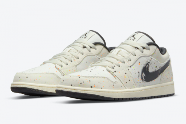Discount Air Jordan 1 Low Paint Splatter DM3528-100 Sneakers-2