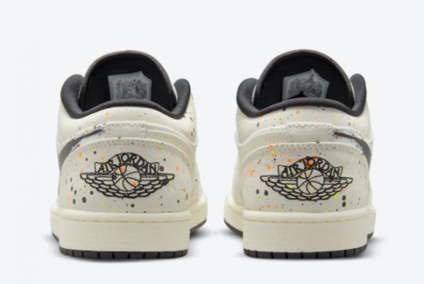 Discount Air Jordan 1 Low Paint Splatter DM3528-100 Sneakers-3