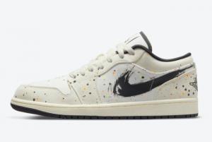 Discount Air Jordan 1 Low Paint Splatter DM3528-100 Sneakers