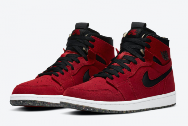 Fashion Air Jordan 1 High Zoom Comfort Red Suede CT0978-600 Shoes-2