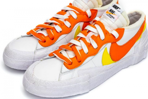 Fashion Sacai x Nike Blazer Low White/Magma Orange DD1877-100 Shoes-1