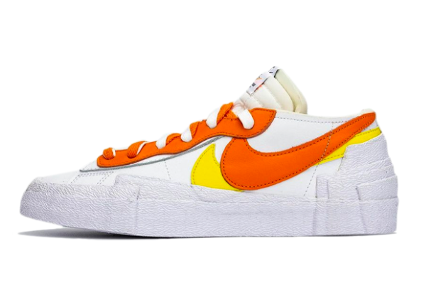Fashion Sacai x Nike Blazer Low White/Magma Orange DD1877-100 Shoes