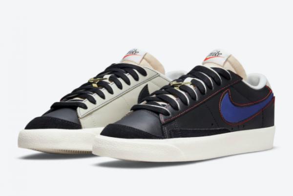 Hot Sale Nike Blazer Low Black Grey DH4370-001-2