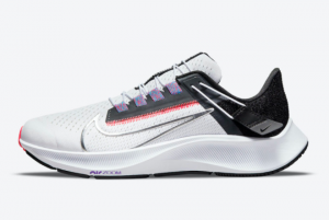 Hot Sell Nike Air Zoom Pegasus 38 FlyEase White Black-Flash Crimson-Metallic Silver DA6698-101