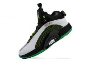Latest Air Jordan 35 Black/Green-White 2021