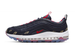 Latest Release Nike Air Max 97 Golf Wing It Deep Purple Red CK1220-400