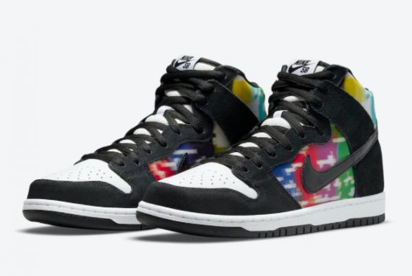 Latest Release Nike SB Dunk High TV Signal CZ2253-100-2