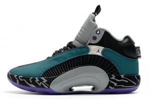 Men's Air Jordan 35 Black/Grey-Collegiate Green Running Shoe