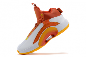 New Air Jordan 35 White/Orange-Red 2021