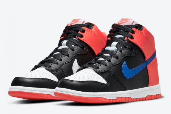 New Arrival Nike Dunk High Black Orange Blue DB2179-001 For Sale Online-2
