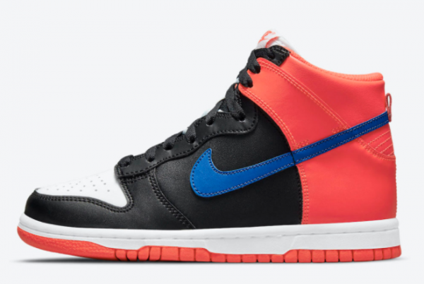 New Arrival Nike Dunk High Black Orange Blue DB2179-001 For Sale Online