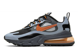 New Nike Air Max 270 React Winter Wolf Grey Total Orange CD2049-006