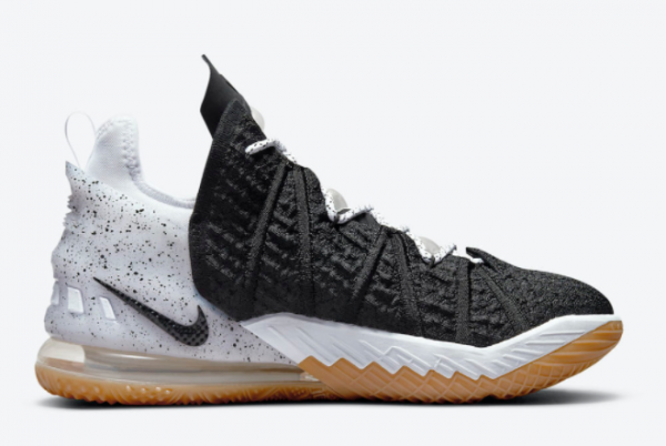 New Release Nike LeBron 18 Black Gum For Sale Online CQ9283-007-1