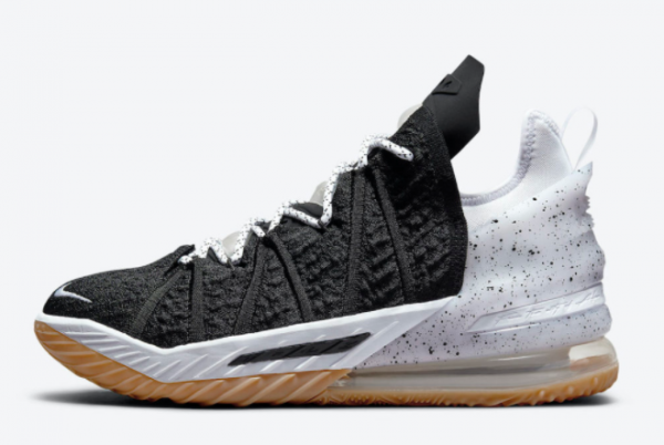New Release Nike LeBron 18 Black Gum For Sale Online CQ9283-007