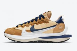 New Release Sacai x Nike VaporWaffle Sesame/Blue Void-White DD1875-200