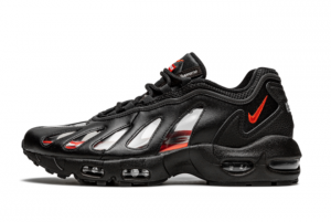 New Supreme x Nike Air Max 96 Black/Speed Red-Clear CV7652-002 Sale