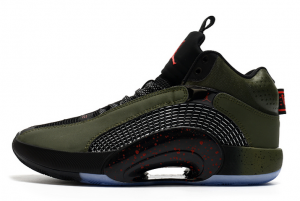 Newest Air Jordan 35 Olive Army Green Basketball Shoes