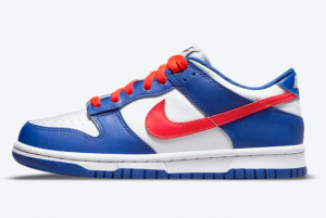 Newest Nike Dunk Low GS Royal Red CW1590-104