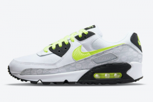 New Nike Air Max 90 White Volt Black DB0625-100 Running Shoes