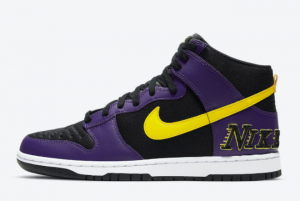 Nike Dunk High EMB Lakers Cheap For Sale DH0642-001