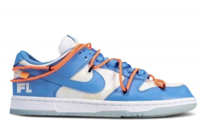 Off White x Futura x Dunk Low SB UNC To Buy DD0856-403