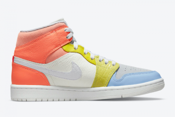 2021 New Air Jordan 1 Mid To My First Coach DJ6908-100 For Sale-1