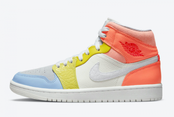 2021 New Air Jordan 1 Mid To My First Coach DJ6908-100 For Sale