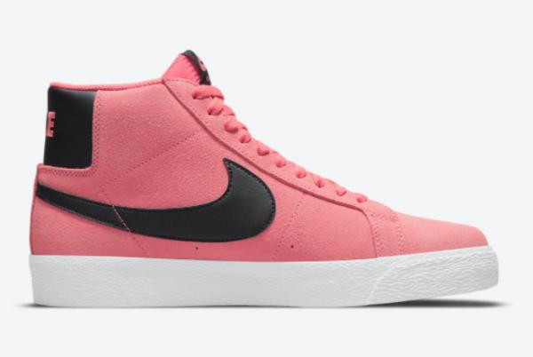 2021 Wmns Nike SB Blazer Mid Pink/Black-White 2021 For Sale 864349-601-1
