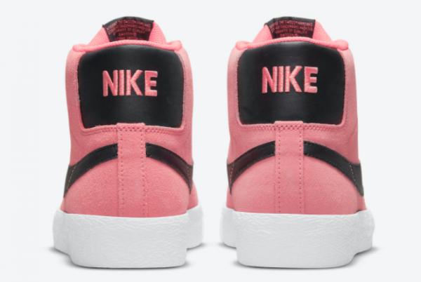 2021 Wmns Nike SB Blazer Mid Pink/Black-White 2021 For Sale 864349-601-3