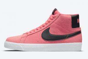 2021 Wmns Nike SB Blazer Mid Pink/Black-White 2021 For Sale 864349-601