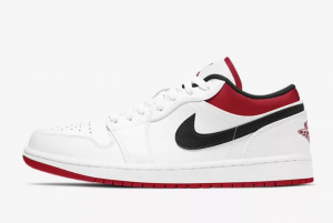 Air Jordan 1 Low White Gym Red 2021 For Sale 553560-118