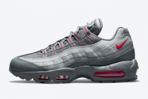 Discount Nike Air Max 95 Grey Red 2021 For Sale DM9104-002