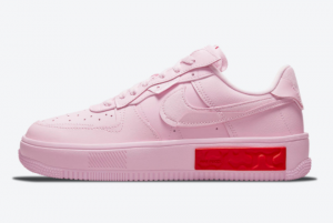 Ladies Nike Air Force 1 Fontanka Pink Red 2021 For Sale DA7024-600