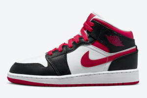 New Air Jordan 1 Mid GS White Black Red 2021 For Sale 554725-016